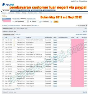 Paypal May 2012 - Sept 2012